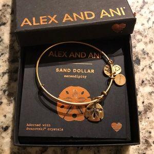 Brand new Alex and Ani sand dollar charm bangle